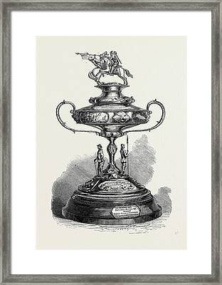 The Warwick Race Cup 1871 Framed Print by English School