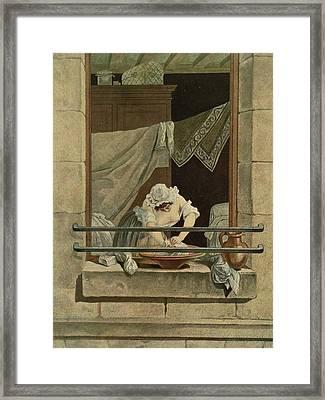 The Washerwoman, Engraved By J. Laurent Framed Print by Augustin de Saint-Aubin