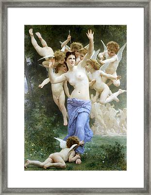 The Wasp's Nest Framed Print by William Bouguereau