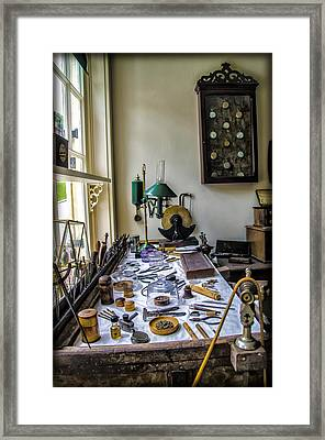 The Watch Repair Shop Framed Print by Bill Cannon