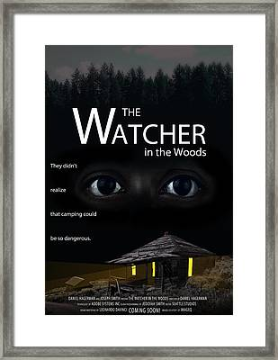 The Watcher In The Woods Framed Print by Daniel Hagerman