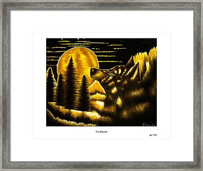 The Watcher Framed Print by Jonas Jeque