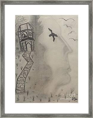 The Watcher Framed Print by Lisa Byrne