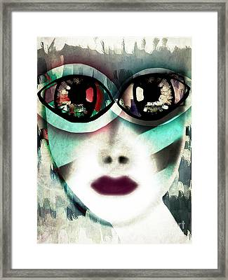 The Watcher - Masked Series Framed Print by Angelica Smith Bill