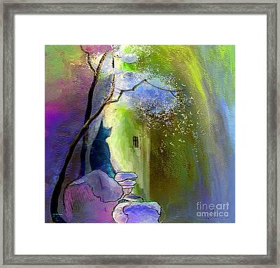 The Watcher Framed Print by Miki De Goodaboom