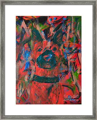 Framed Print featuring the painting The Watcher by Wendy Coulson