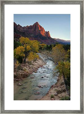 The Watchman At Autumn Framed Print by Andrew Soundarajan