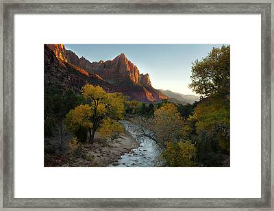 The Watchman At Zion Framed Print by Andrew Soundarajan