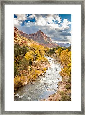 The Watchman In Autumn Framed Print