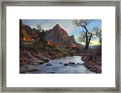 The Watchman In Winter-2 Framed Print by Alan Vance Ley