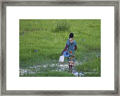 The Water Girl... Framed Print by Nina Stavlund