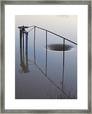 The Water Hole  Or The Hole In The Water Framed Print by Kay Sparks