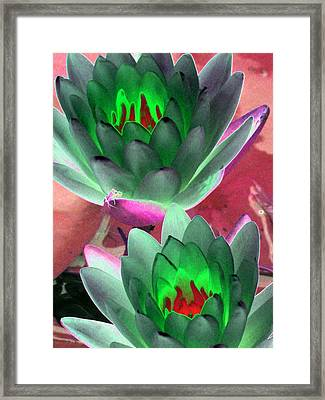 Framed Print featuring the photograph The Water Lilies Collection - Photopower 1121 by Pamela Critchlow