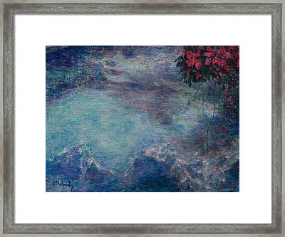 Framed Print featuring the mixed media The Water Spirit Reveals Herself by Carla Woody
