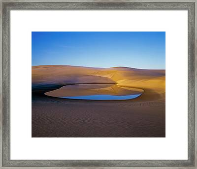 The Water Table Raises Above The Sand Framed Print by Robert L. Potts
