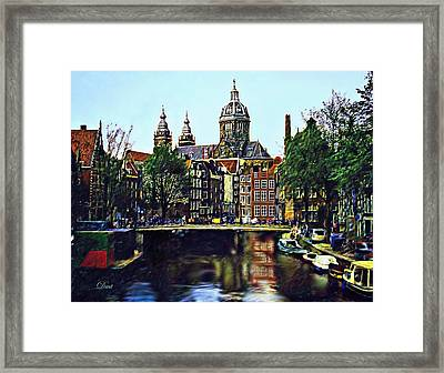 The Water Way Amsterdam Framed Print by Dmt