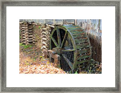 The Water Wheel At Cable Grist Mill Framed Print