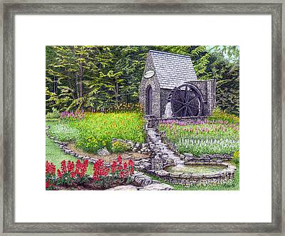 The Water Wheel At Seven Springs Mountain Resort Framed Print by Albert Puskaric