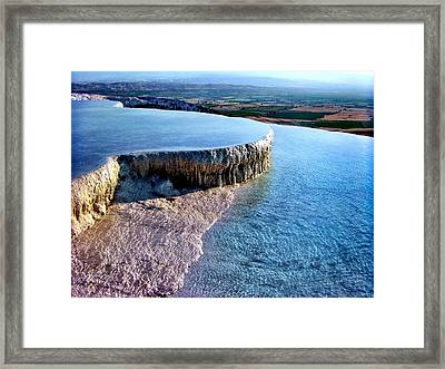 The Water With White Paint Framed Print by Zafer Gurel