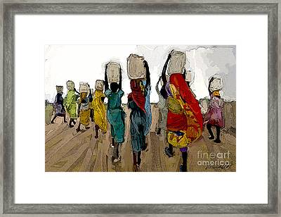 The Water Workers Framed Print