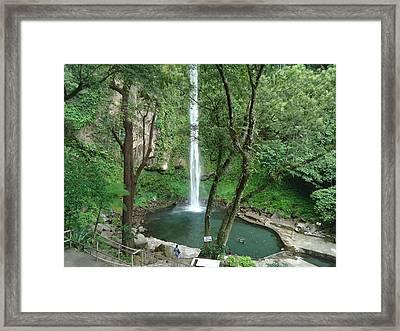 The Waterfalls Framed Print by Fladelita Messerli-