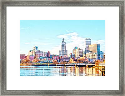 The Waterfront Framed Print by Jerri Moon Cantone