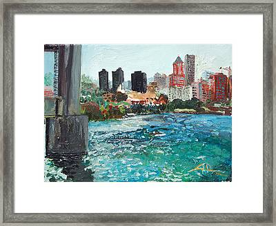 The Waterfront Framed Print by Joseph Demaree