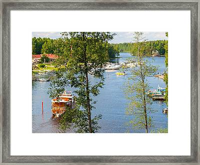 The Waterfront Of Oravi Framed Print