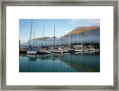 The Waterfront Of Seward, Alaska Framed Print by Dan Bailey