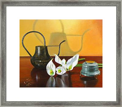 The Watering Can Framed Print by Glenn Beasley