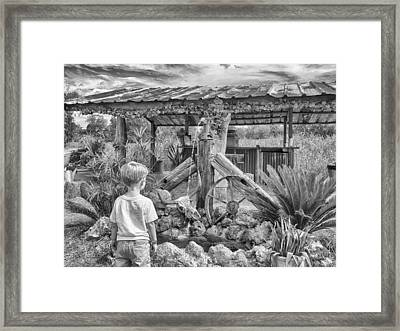 Framed Print featuring the photograph The Watering Hole by Howard Salmon
