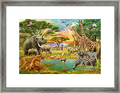 The Watering Hole Framed Print by Jan Patrik Krasny