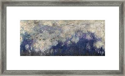 The Waterlilies - The Clouds Central Section 1915-26 Oil On Canvas See Also 64184 & 64186 Framed Print by Claude Monet