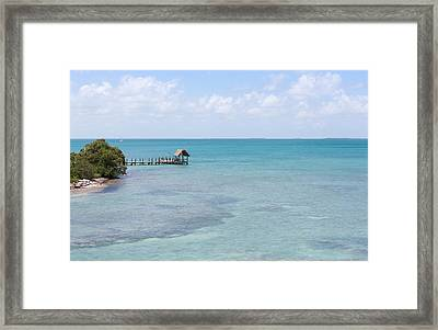 The Waters Of Pigeon Key Framed Print