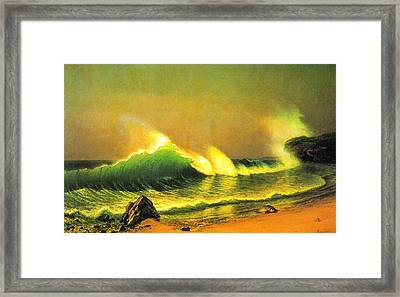 The Wave Framed Print by Albert Bierstadt