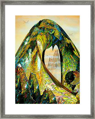 The Wave And The Mountains Framed Print by Michele Avanti