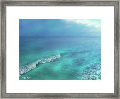 The Wave Framed Print by Becky Lupe