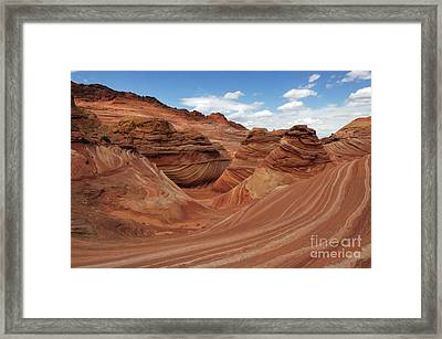 The Wave Center Of The Universe Framed Print by Bob Christopher