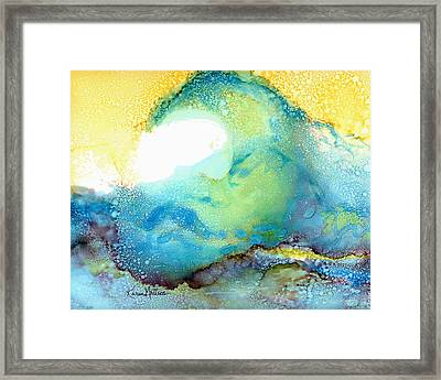 The Wave Framed Print by Karen Mattson