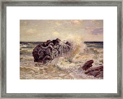 The Wave Lady's Cove Langland Bay Framed Print by Alfred Sisley