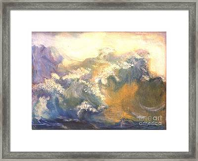 The Wave Framed Print by Renuka Pillai