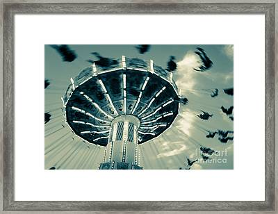 The Wave Swinger Framed Print by Colleen Kammerer