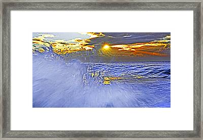 The Wave Which Got Me Framed Print