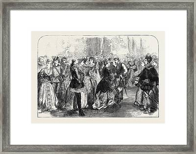 The Waverley Ball At Williss Rooms 1871 Framed Print