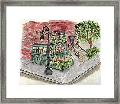 The Waverly Inn And Garden Framed Print