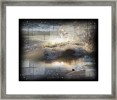 The Waves Of Lake Michigan Framed Print by Andrew Sliwinski