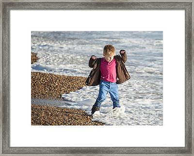 The Waves They Do Not Listen Framed Print
