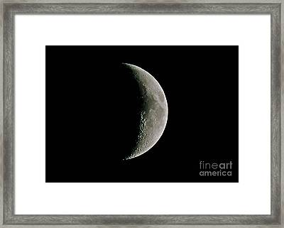 The Waxing Crescent Moon Framed Print