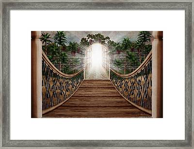 The Way And The Gate Framed Print by April Moen