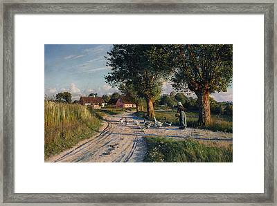 The Way Home Framed Print by Peder Monsted